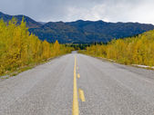 Fall at Robert Campbell Hwy Yukon Territory Canada — Stock Photo