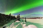 Intense display of Northern Lights Aurora borealis — Stock Photo