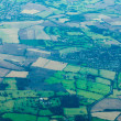 Stock Photo: England UK Europe farmland rural villages aerial