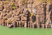 Basalt rock columns of Miles Canyon Yukon Canada — Stock Photo