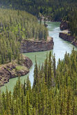 Miles Canyon of Yukon River near Whitehorse Canada — Stock Photo