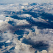 Stock Photo: Aerial view of snowcapped mountains in BC Canada