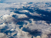 Aerial view of snowcapped mountains in BC Canada — Stock Photo