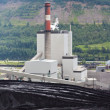 Coal mine electrical energy power plant in nature — Stock Photo
