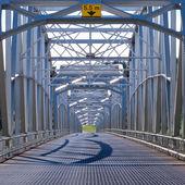 Alaska Highway AlCan Steel bridge construction — Stock Photo