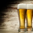 Two glasses of beer — Stock Photo #13886406