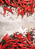 Chili peppers frame — Stock Photo