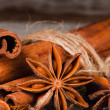 Anise stars and cinnamon — Stock Photo