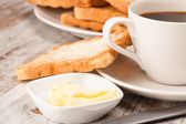 Coffee with toasts — Stock Photo