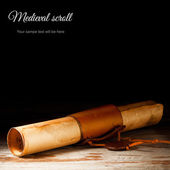 Medieval scroll — Stock Photo
