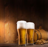 Two glasses of beer — Stock Photo