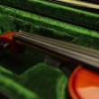 Violin in green case — Video Stock