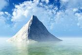 één rots in kalme zee — Stockfoto