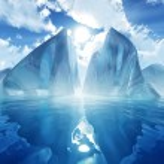 Iceberg in calm sea — Stock Photo