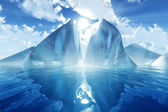 Iceberg in calm sea — Stock Photo
