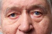 Oude man ogen — Stok fotoğraf