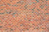 Textura de parede de castelo de tijolos vermelhos — Foto Stock