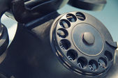 Old black retro telephone — Stock Photo