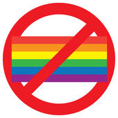 Homosexual forbidden sign — Stock Vector