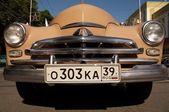 Front of soviet russian retro car Pobeda — Stock Photo