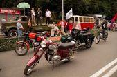 Retro bikes Jawa — Stock Photo