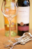 Prázdné sklenice na víno — Stock fotografie