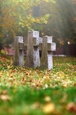 Three tomb crosses — Stock Photo
