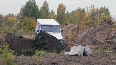 Rally car drive — Stock Video