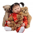 Baby Doll and Bears — Foto de Stock