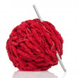 Textile: Red wool — Stock Photo #13408605