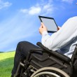 Healthcare: wheelchair user — Stock Photo