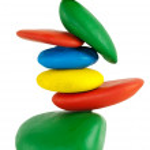 Colorfu Balancing stones — Stock Photo #7352928