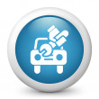Icon depicting car repair - Stock Photo