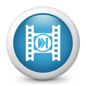 Icon depicting a play button of a video player — Stock Photo