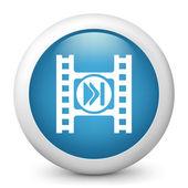 Icona raffigurante un pulsante di riproduzione di un video player — Foto Stock
