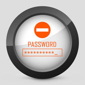 """Icon with word """"password"""" — Stock Vector"""