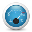 Icon of the temperature indicator of the vehicle. — Stock Vector