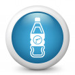 Bottle containing liquid dangerous - Stock Vector