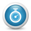 Vector blue glossy icon depicting chronometer — Stock Vector #21986507