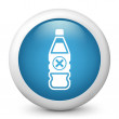 Bottle with symbol harmful — Stock Vector