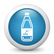 Stock Vector: Bottle containing liquid dangerous