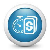 ícone brilhante vetor azul, representando o cronômetro — Vetorial Stock
