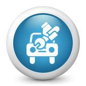 Icon depicting broken car — Stock Vector