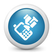 Icon depicting damaged phone — Stock Vector