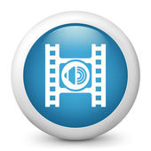 ビデオ プレーヤーのオーディオ ボタンのアイコン — ストックベクタ