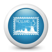 Icon depicting stamp of Holland — Stock Vector