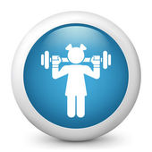 Icon depicting gym — Stock Vector