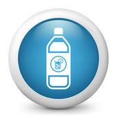 描绘一瓶冷饮的图标 — 图库矢量图片