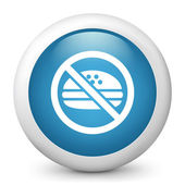 """Icon depicting the symbol of """"food forbidden"""" — Stock Vector"""