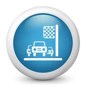 Ikona ikony przyjazdu wyścigu — Wektor stockowy